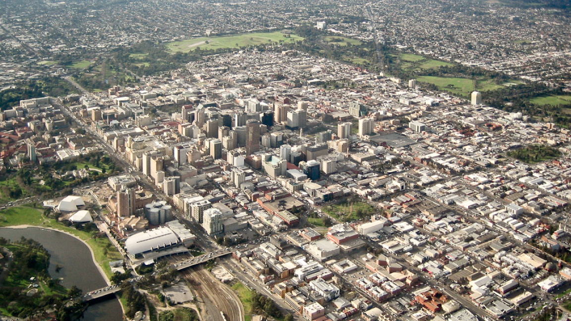 Aerial View of Adelaide, Australia (Photograph: DougBarber | CC BY-SA)