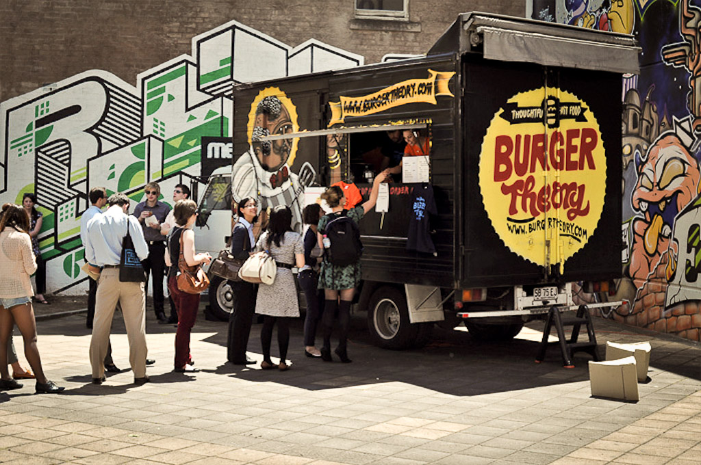 Burger Theory Mobile Food Truck in Adelaide, Australia (photograph: Timothy Tuppence)