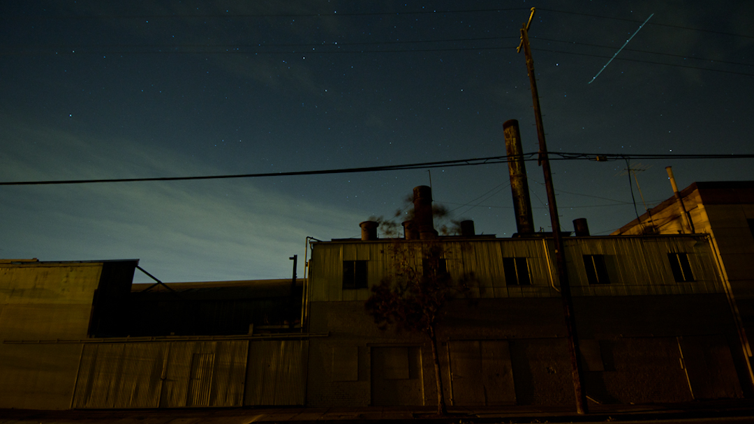 The former Citadel Canning Factory, turned Artist Community in San Jose, in the dark during a power outage (photo: Patrick Lydon | sociecity)
