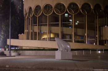 The Frank Lloyd Wright designed San Jose Center for Performing Arts sits empty (photo: Patrick Lydon | sociecity)