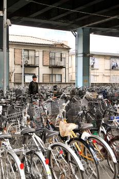 Bikes parked at a station in Chiba, Japan (photo: Patrick Lydon | sociecity)