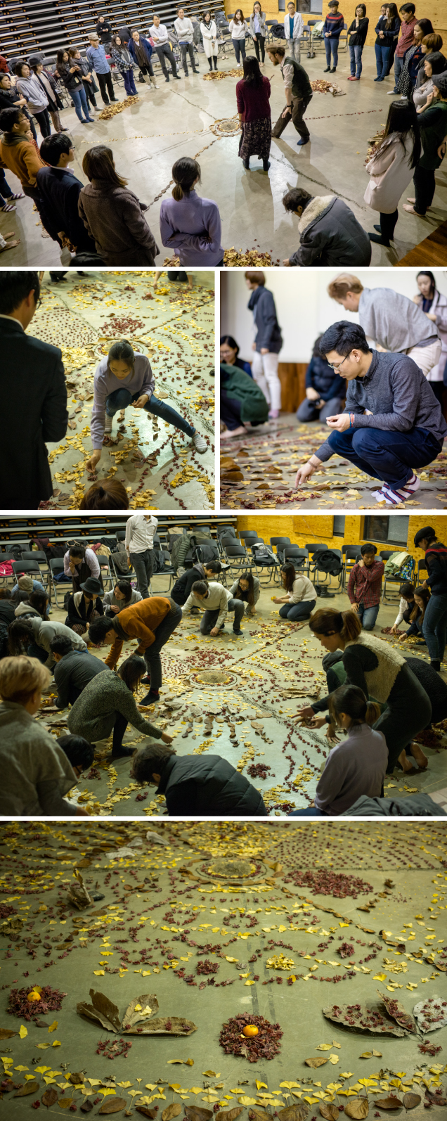 Images from our Nature Mandala workshop at Seoul Youth Hub in South Korea (Image courtesy of Seoul Youth Hub and SocieCity)