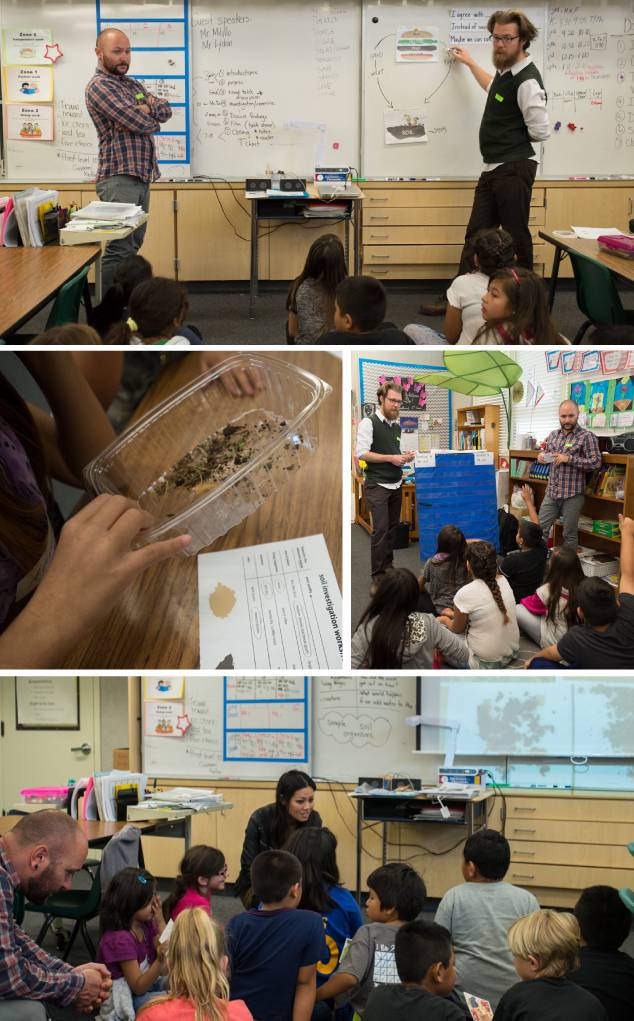 Images from our workshop with elementary school students in Campbell, California