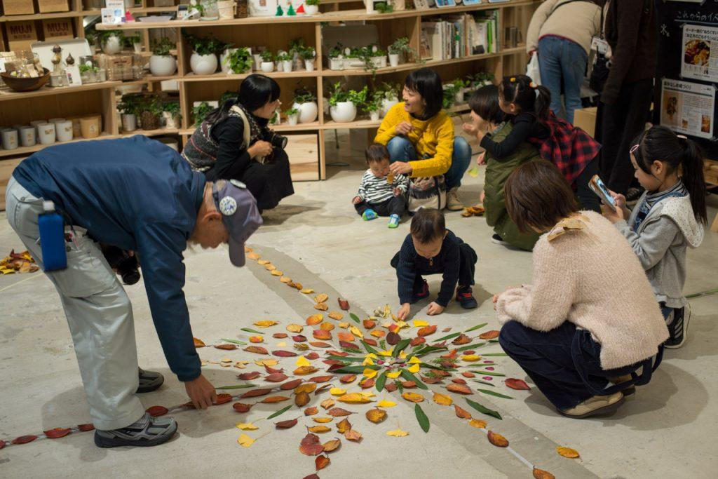 Nature Mandala workshop at MUJI Japan
