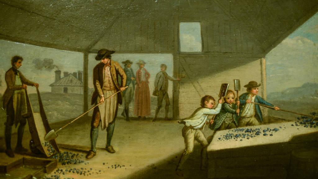 Children smashing lead ore (David Allan, c. 1780)
