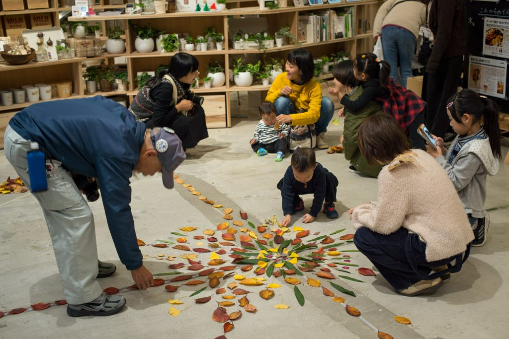 Nature Mandala workshop at MUJI Japan